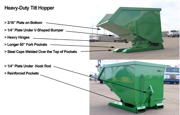 Heavy-Duty Tilt Hopper